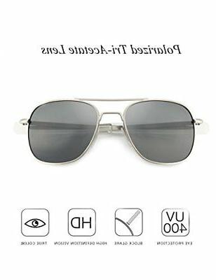 WELUK Pilot Aviator Sunglasses Polarized Style