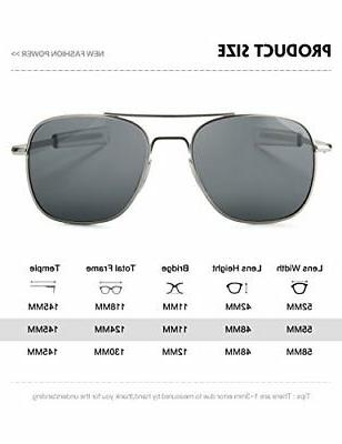 WELUK Aviator Sunglasses 55mm Military Style Bayon...