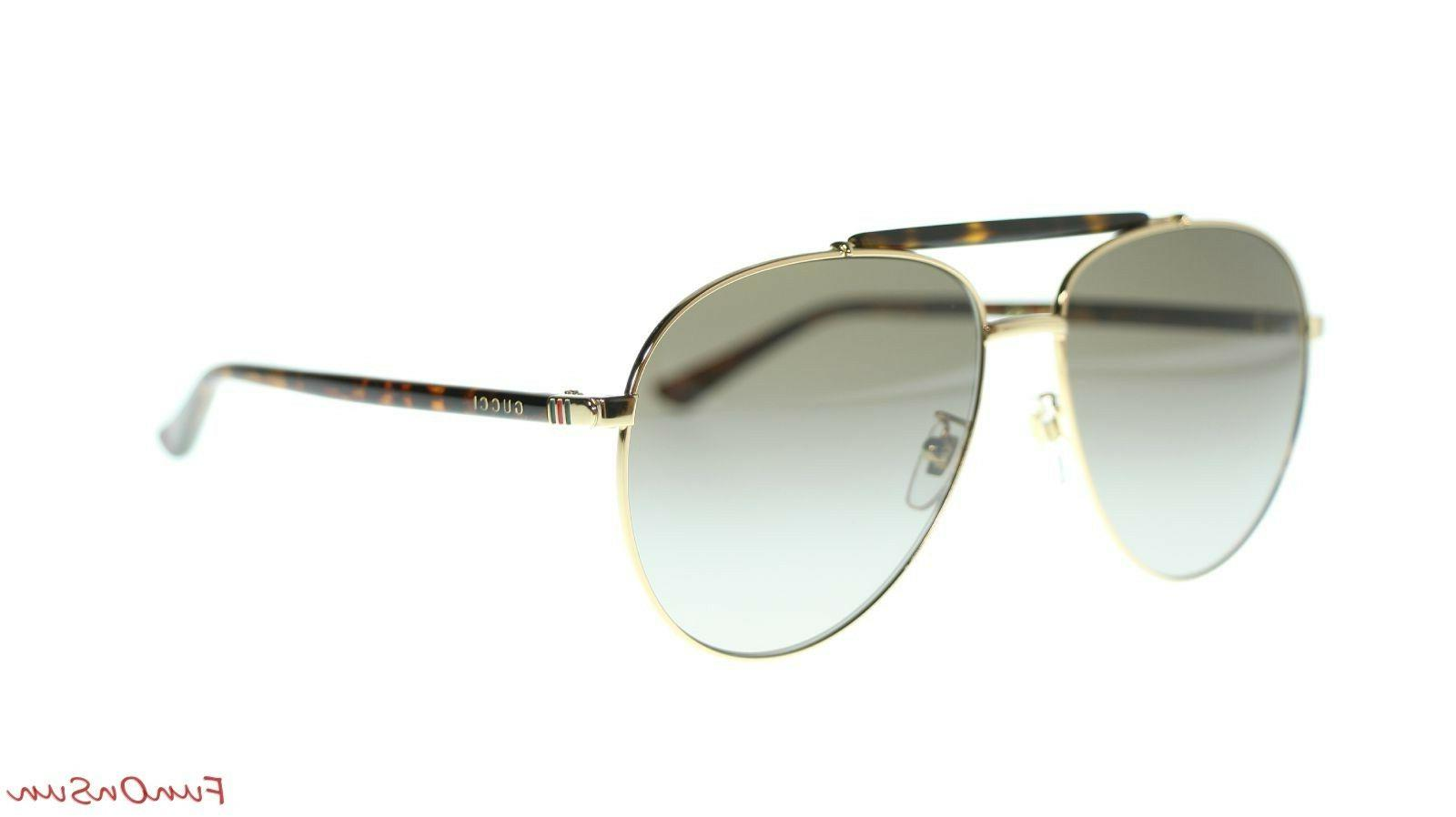 Gucci 002 Gold/Brown Lens Aviator