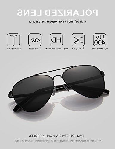 LUENX Sunglasses Lens Metal Frame with 400 Protection
