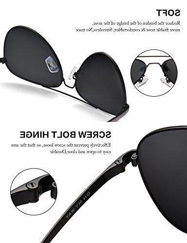 LUENX Sunglasses Non-Mirror Lens with Accessories Protection