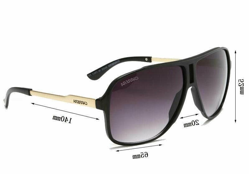 Men Womens Unisex Sunglasses Black Carrera Glasses