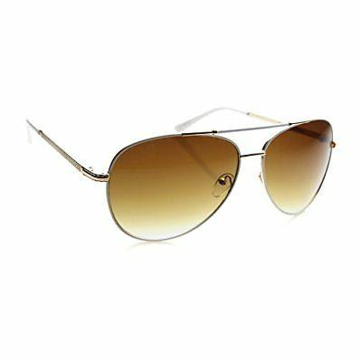 mens oversized two toned metal frame aviator