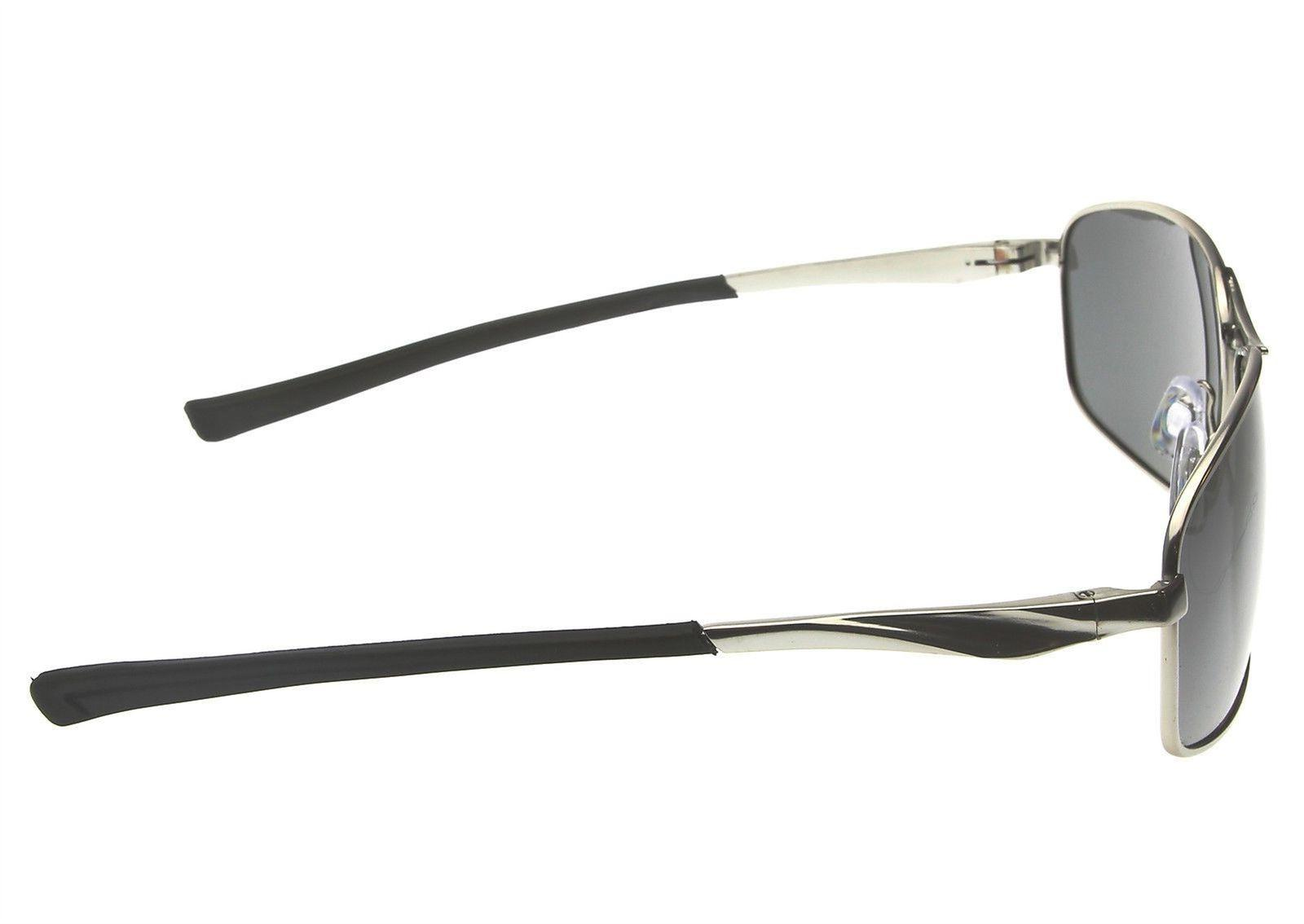 Mens Polarized Aviator Silver