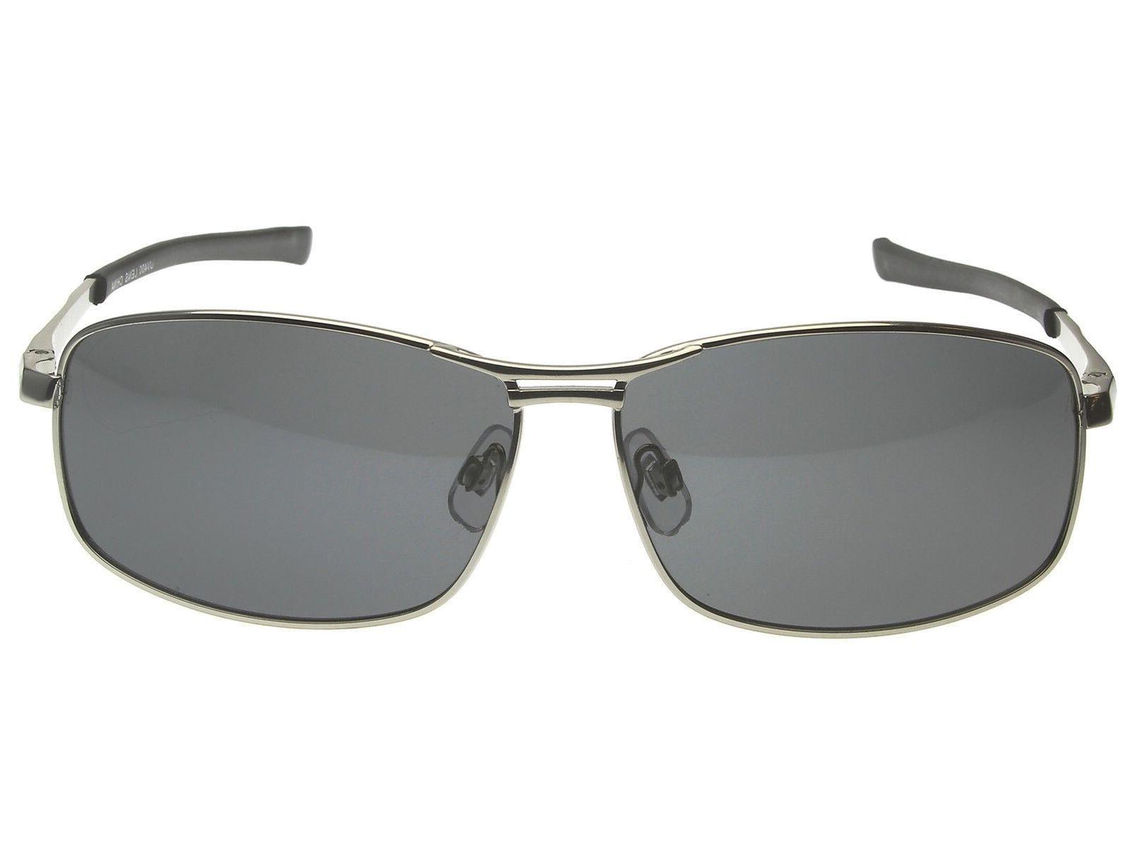 Mens Polarized Fishing UV400 Silver Aluminum