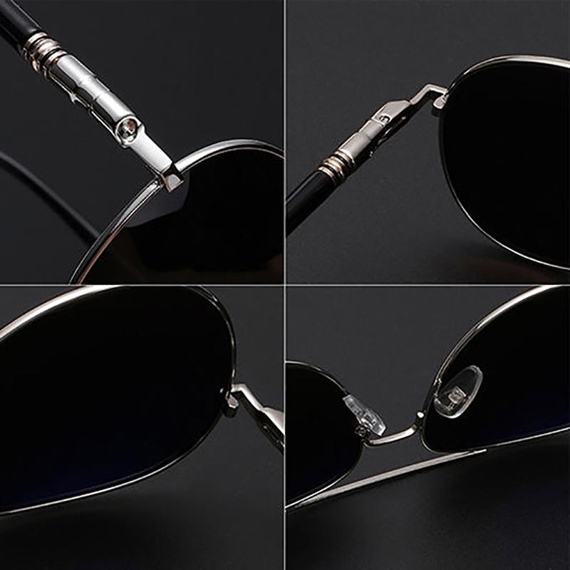 Mens Retro Driving <font><b>Sunglasses</b></font> Vintage Metal Eyeglasses Fishing Glasses Women UV400