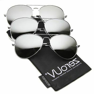 mirrored aviator sunglasses for men women military