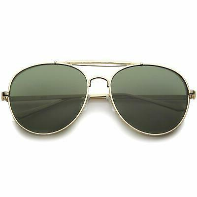 Modern Flat Full Frame Double Bridged Aviator