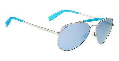 NAUTICA N5114 045 58mm SILVER BLUE POLARIZED AVIATOR Pilot U