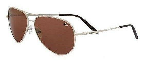 New Serengeti 7271 Almond Medium Pearl Aviator Sunglasses