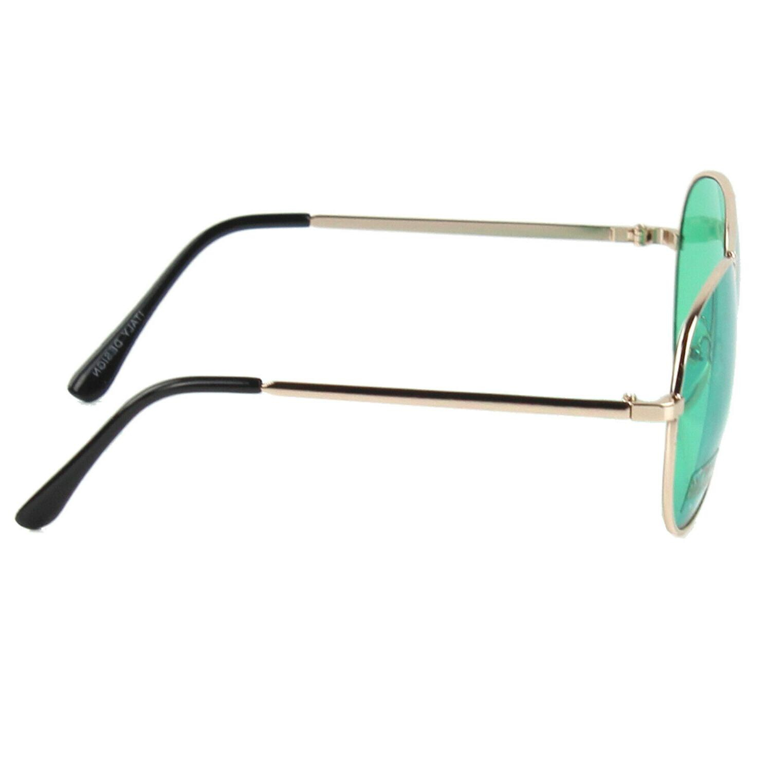 New Sunglasses Metal Gold Light Pilot