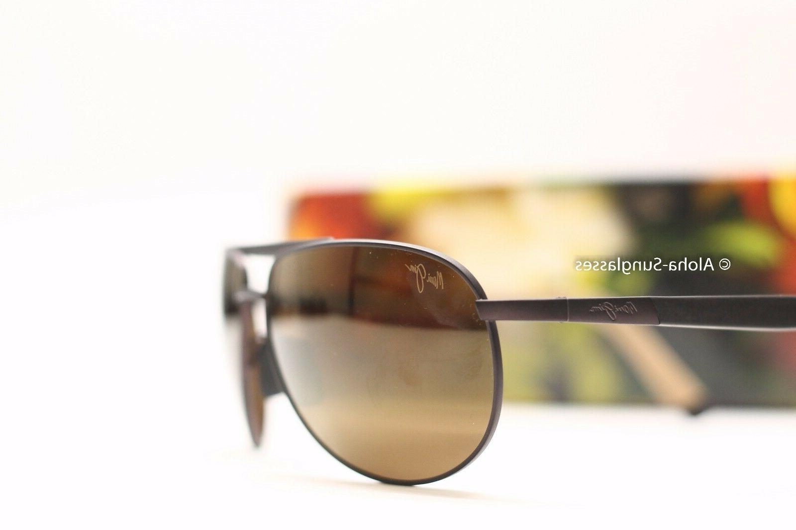 5ea049d2490ba New MAUI JIM LEEWARD COAST Chocolate HCL Bronze Aviator Sung