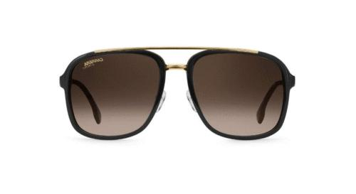 NEW Carrera Men's Ca133s Aviator Sunglasses, Black Gold Grad