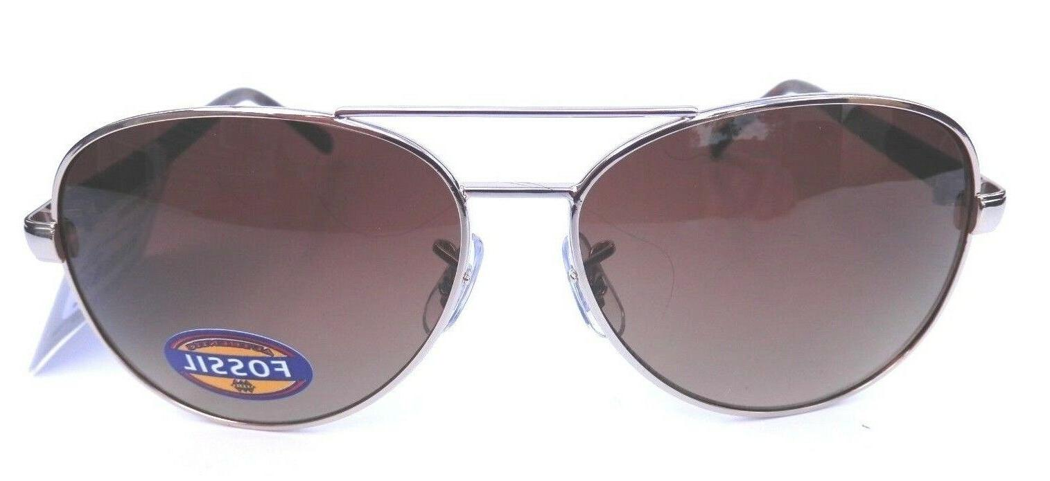 NEW FOSSIL gold aviator sunglasses