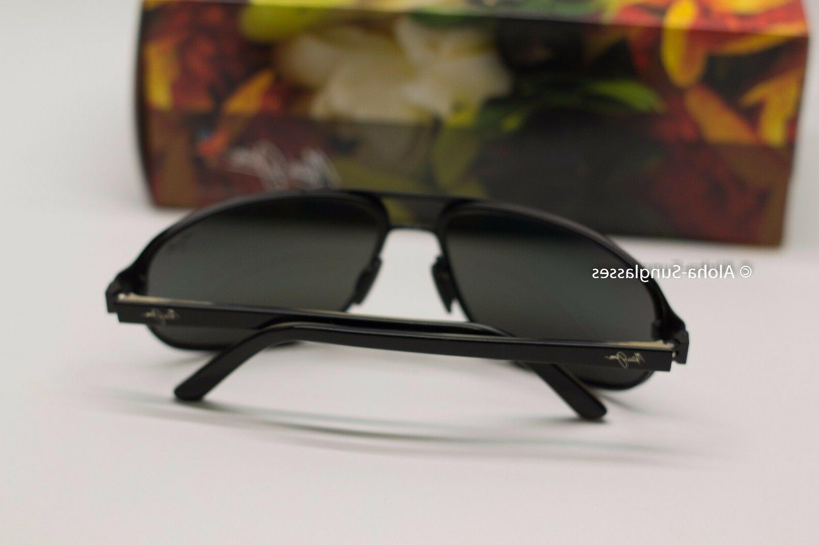 NEW AVIATOR Sunglasses Black w Grey