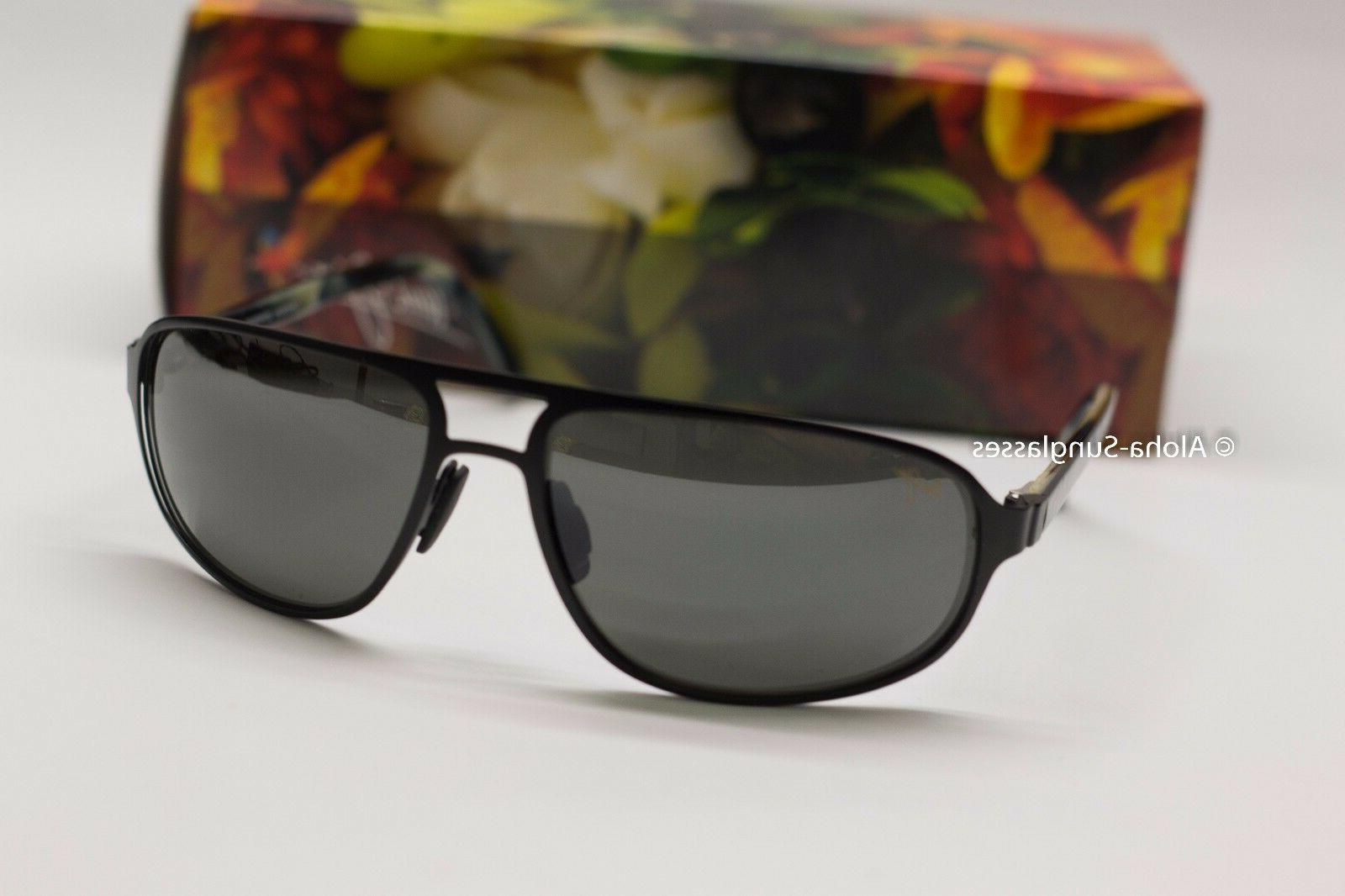 NEW AVIATOR Sunglasses LAHAINALUNA Black w Grey