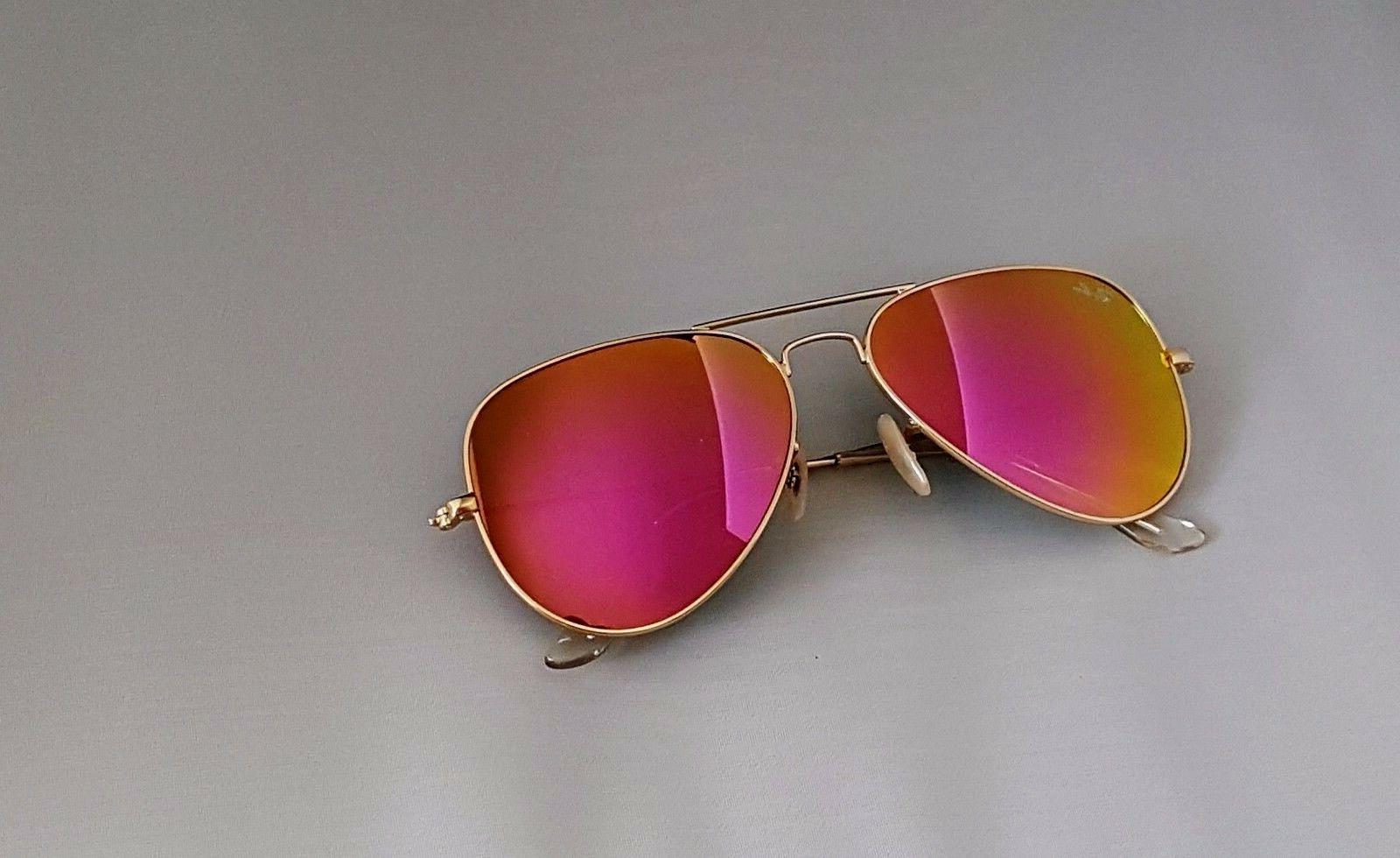 New Ray RB3025 112/4T Matte Gold frame/Cyclamen Lens