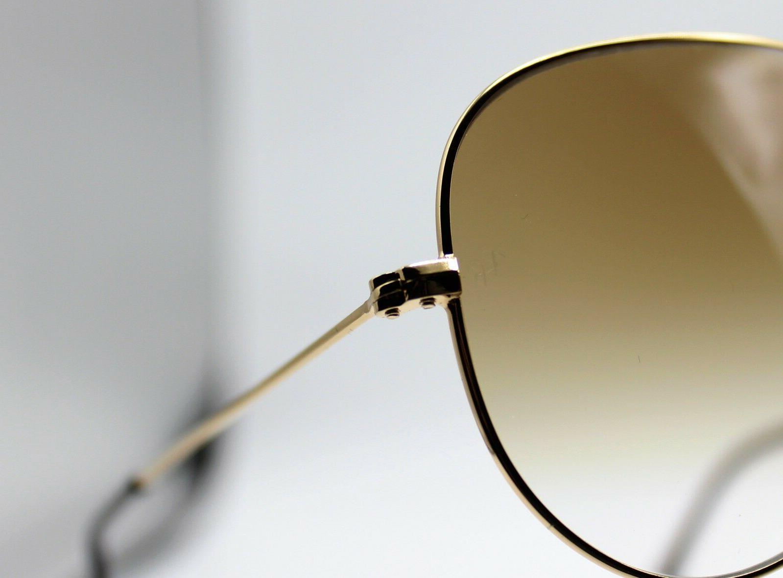 New RB3025 001/51 Gold/Brown Gradient Aviator 62