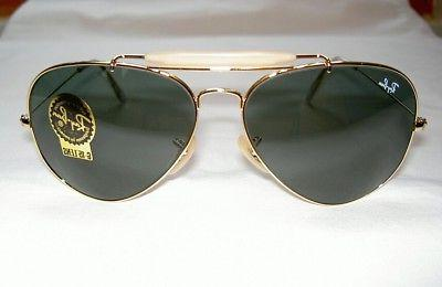 2403a5e0077 New RAY BAN Sunglasses AVIATOR Gold OUTDOORSMAN II RB 3029