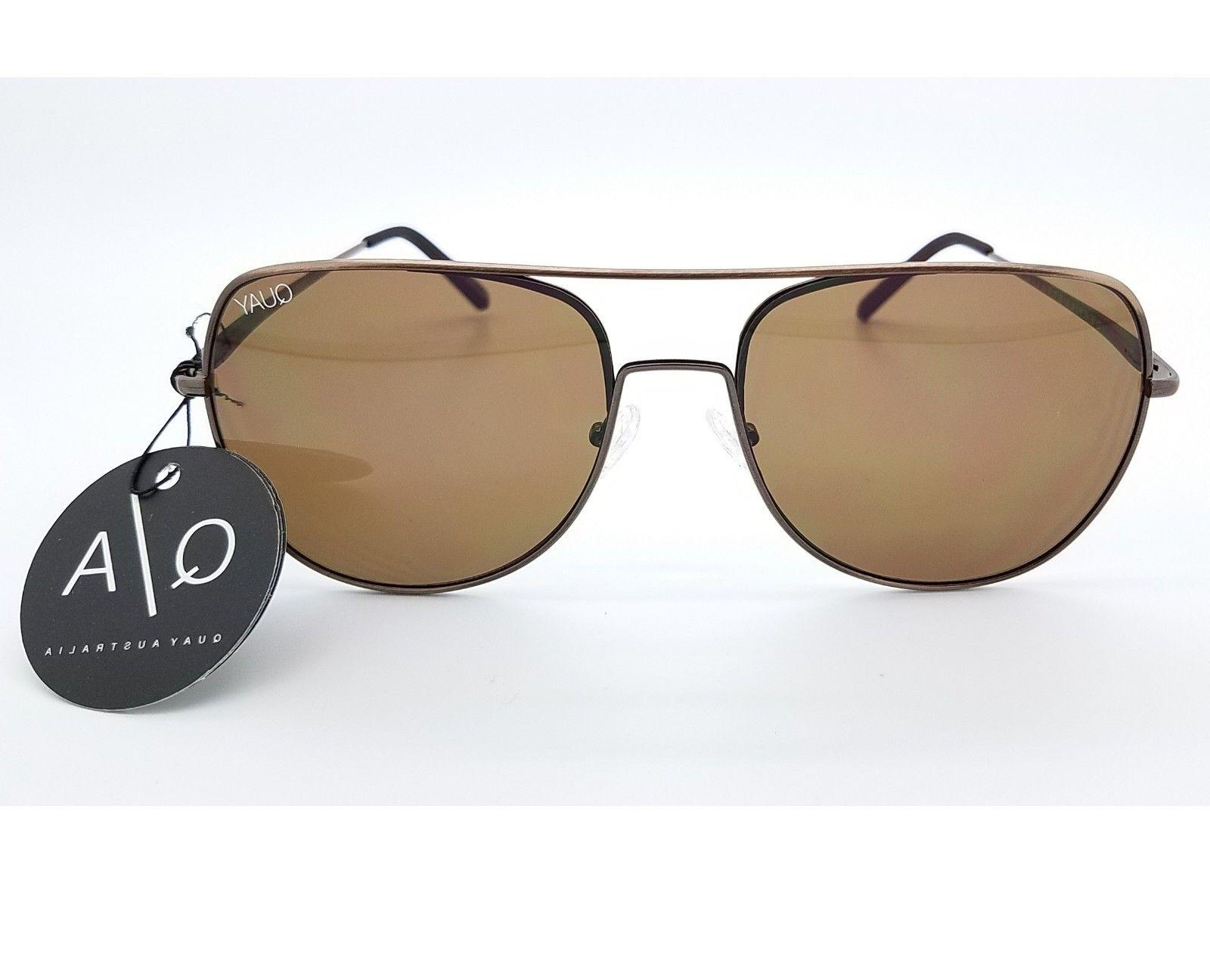 NEW Quay sunglasses Living Large Bronze Brown Square Aviator