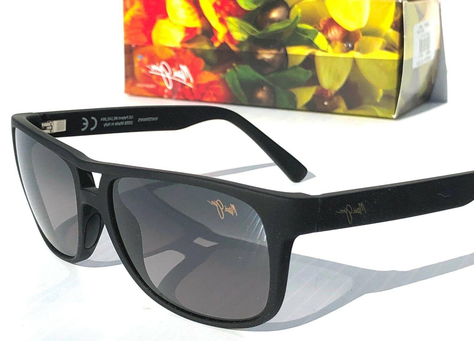 NEW* Maui Jim Black Aviator Grey Lens GS267-02MR