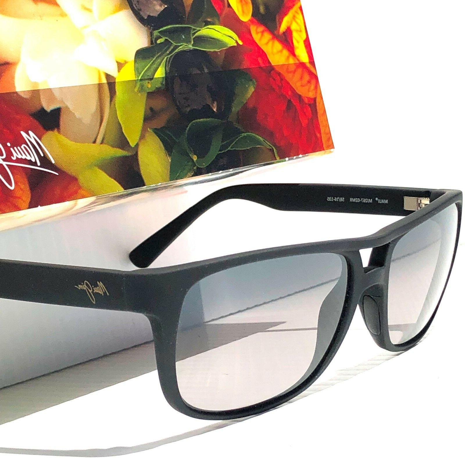 NEW* Maui Jim Black Aviator Grey Lens