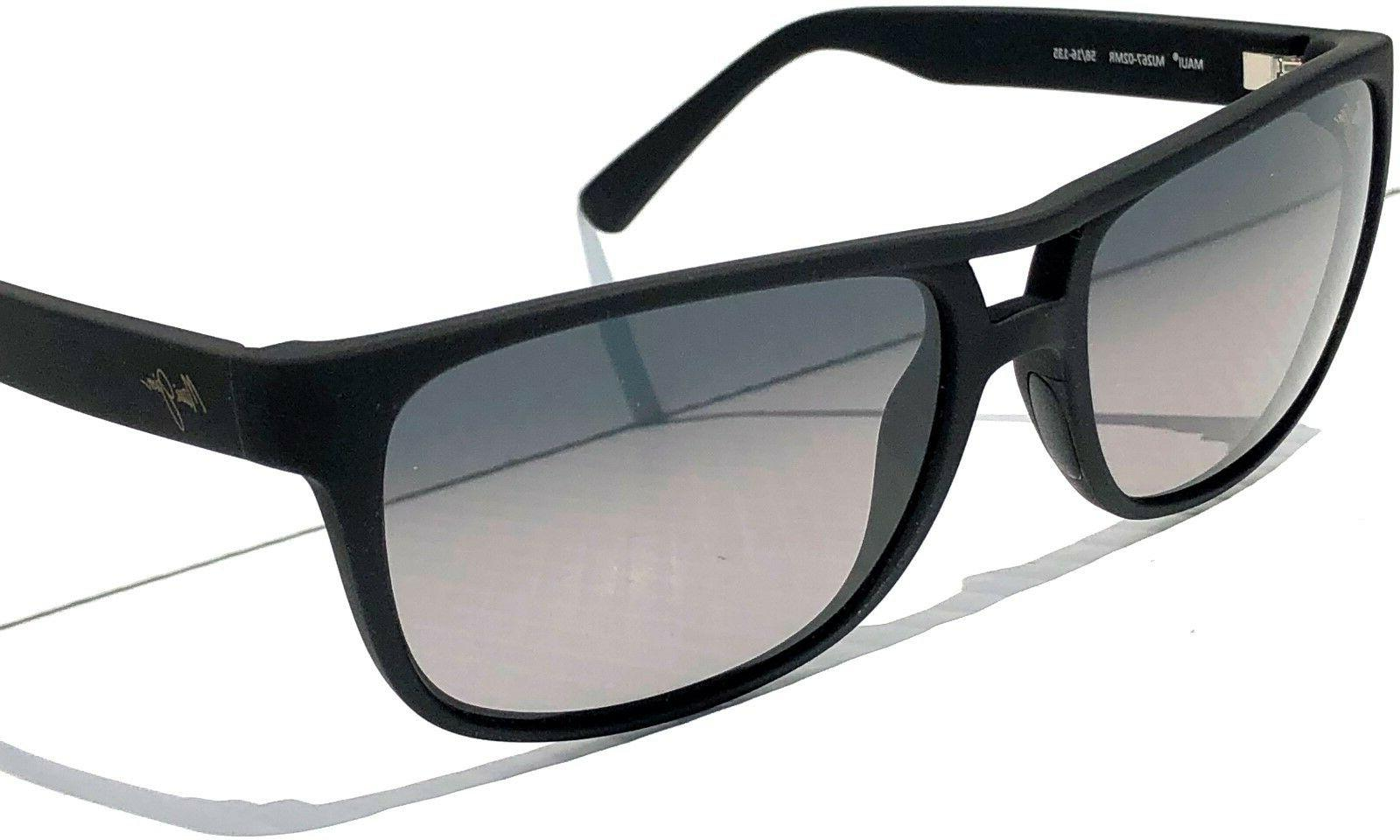 NEW* Maui Jim Waterways Black Grey Lens Sunglass