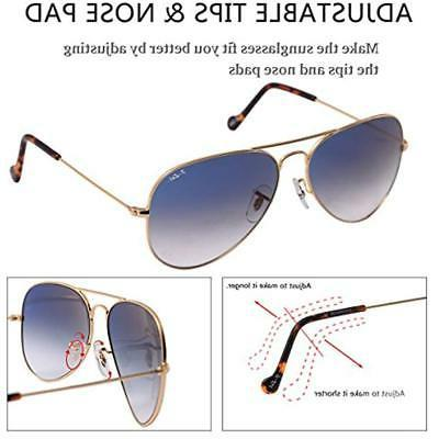 O-LET Aviator Sunglasses Men Glass Lens UV
