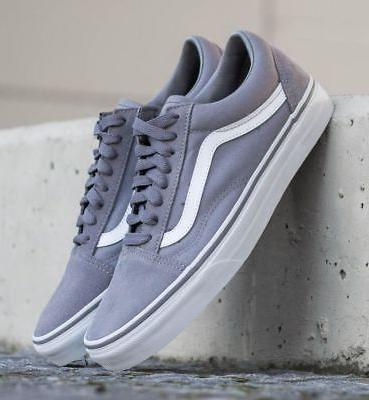Vans Frost Gray Mens Suede Skate Shoes Sizes