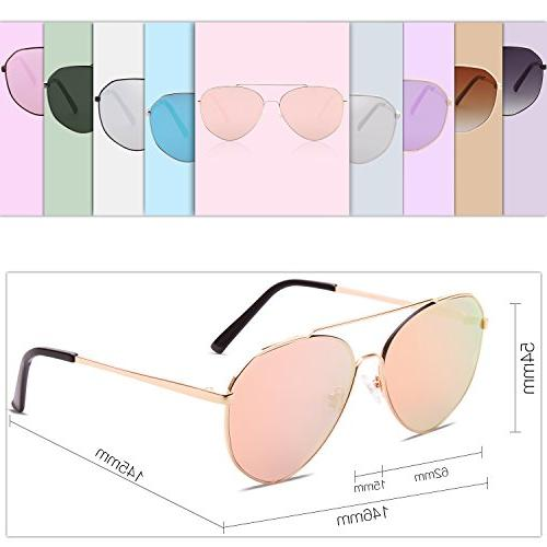 SOJOS Oversized Sunglasses Mirrored Flat for Men Women with Lens