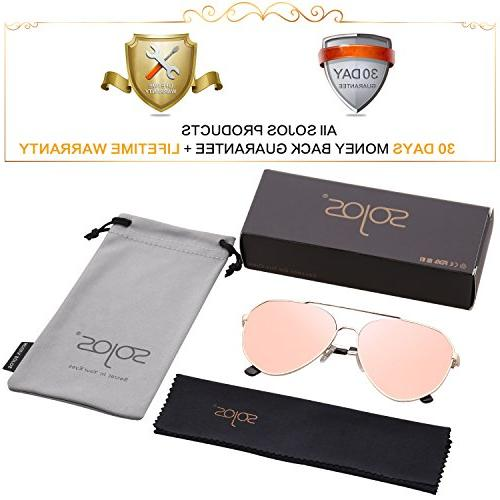 SOJOS Oversized Sunglasses Mirrored Flat Lens with Gold Mirrored Lens