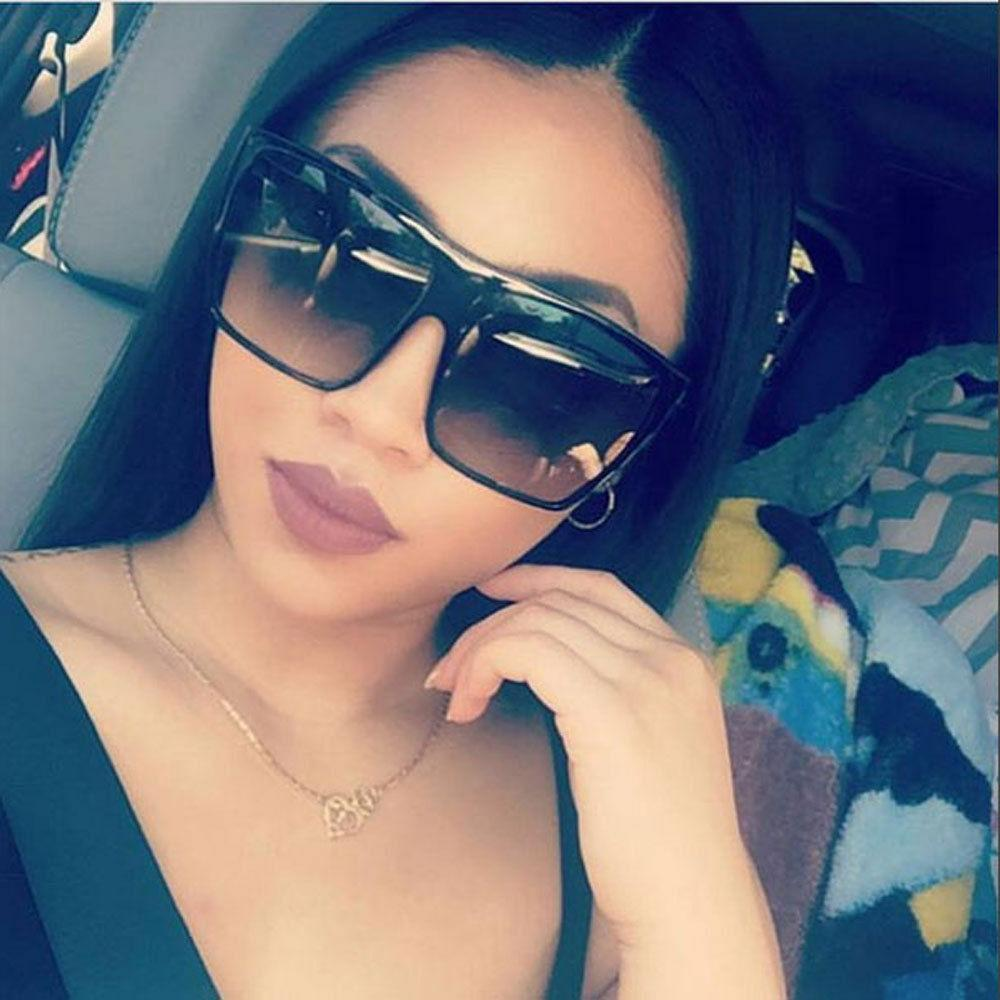 Oversized Black Sunglasses Huge Flat Top Large Aviator Desig