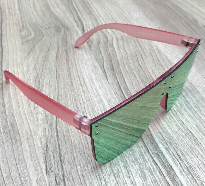 Oversized XXL Square High HILLS Flat TOP Mirror Lens Aviator BIG Sunglasses 7365