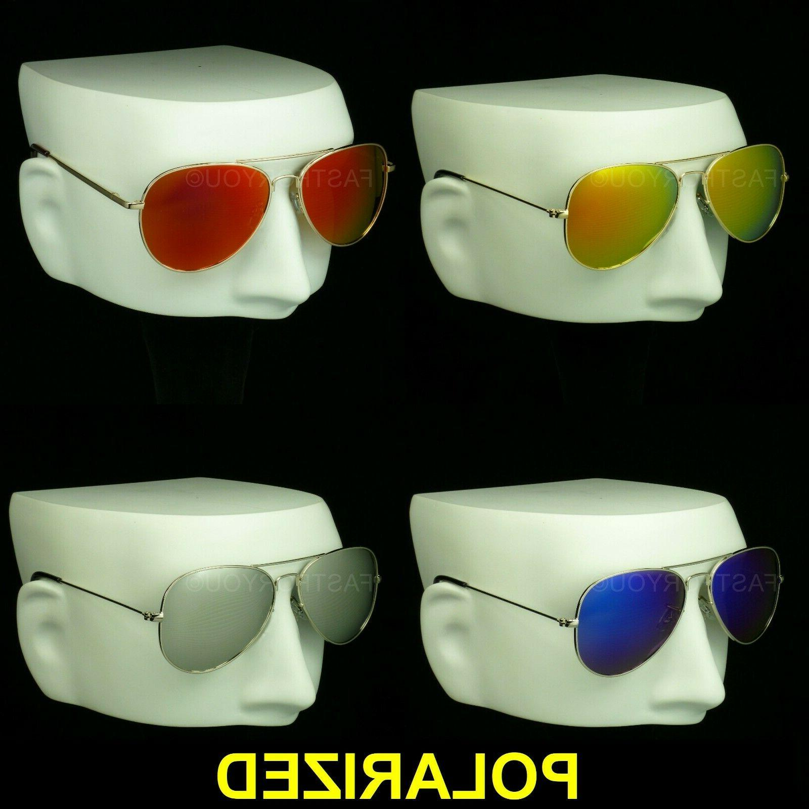 polarized aviator sunglasses mirror lens drive fish