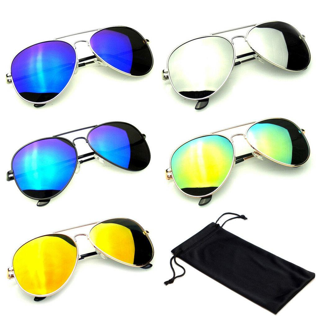 polarized aviator sunglasses women men case vintage