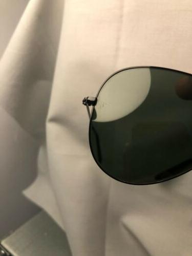 Ray-Ban Aviator Unisex Size Sunglasses Black Frame/Green