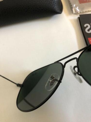 Ray-Ban Unisex Size 58mm Black Frame/Green Lens