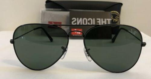 Ray-Ban Unisex Size Sunglasses Black Frame/Green