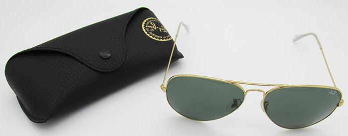 Ray Aviator 3026 L2846 Gold G15 62mm Sunglasses