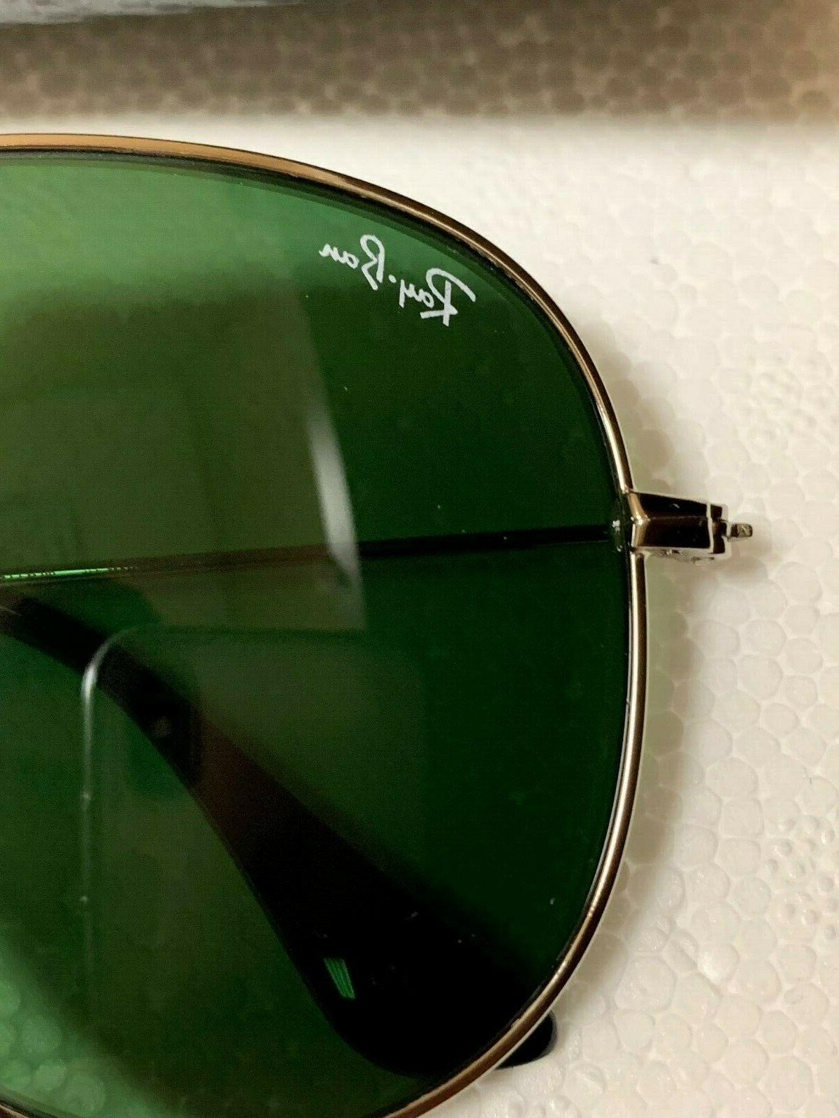 Ray-Ban Genuine Silver Frame Green Lens Size 62mm