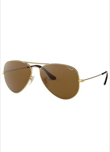 Ray-Ban RB3025 001/57 58mm Gold Frame/Brown