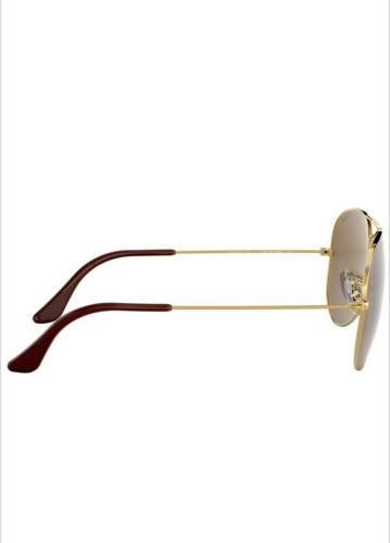Ray-Ban Sunglasses Polarized RB3025 001/57 58mm Gold Frame/Brown lens!!