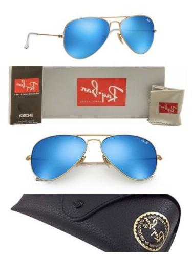 Ray-Ban Aviator Sunglasses RB3025 Blue Mirror G-15 Lens 58mm