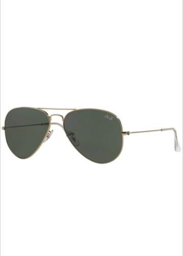 Ray Ban Aviator RB3025 L0205 58mm Gold Frame/Green