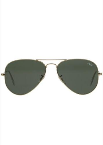 Ray Ban Aviator RB3025 Gold Frame/Green Classic!!