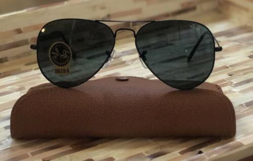 Ray-Ban Aviator Sunglasses L2823 Black Crystal