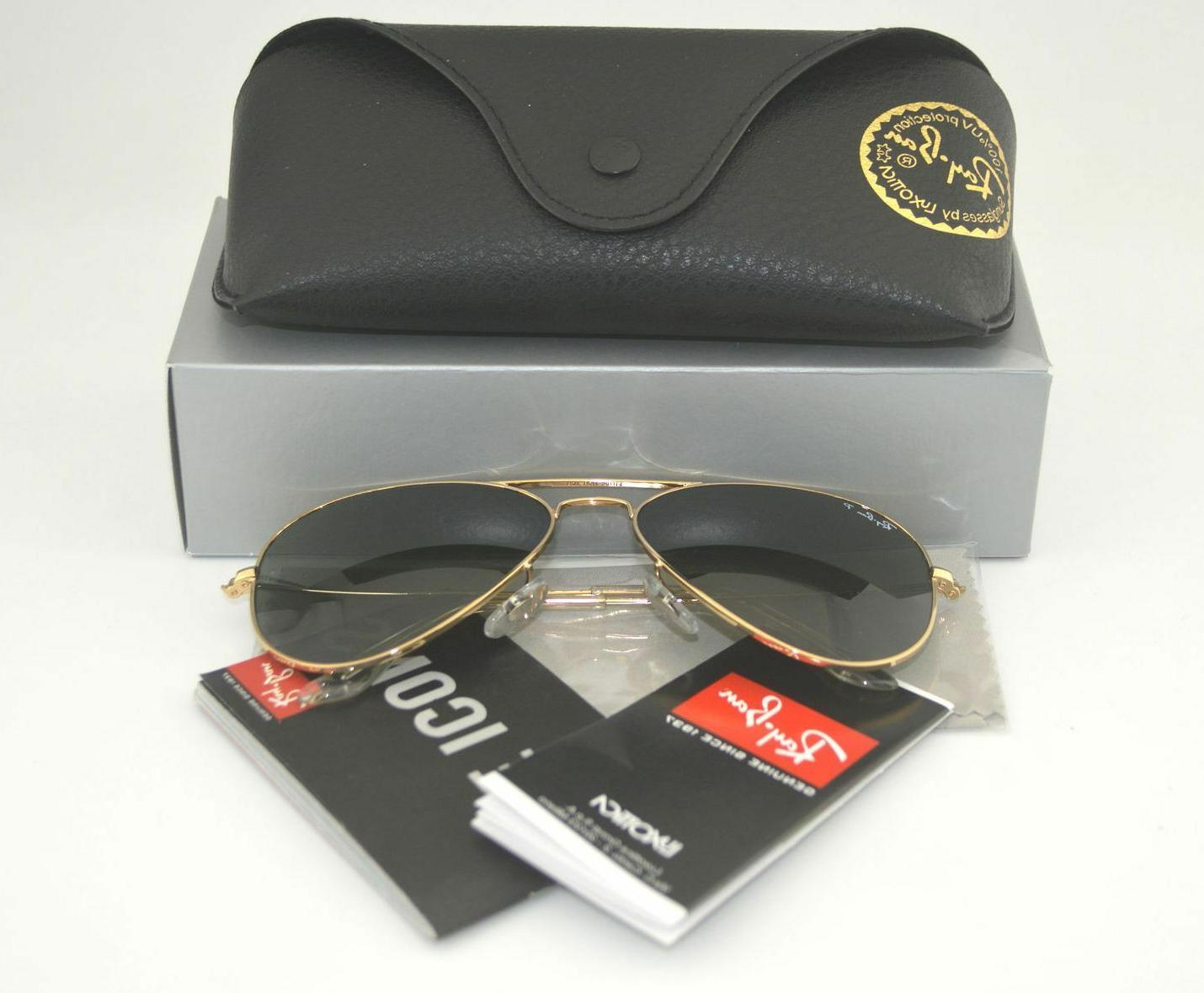 Ray Ban RB3025 Aviator Classic Sunglasses 001/58 Gold Frame/