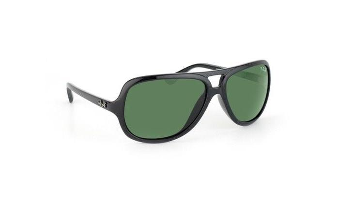 Ray-Ban RB4162 Aviator Sunglasses with Black Frame and Green
