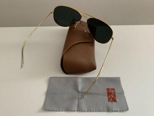 Ray Ban 3025, 62mm,Gold / Black Pre-owned,