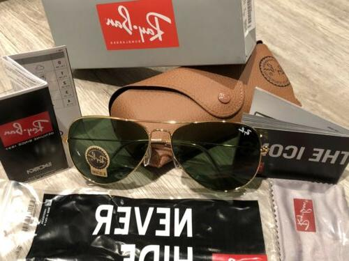 f1e70b1e7aa Editorial Pick RayBan Aviator Sunglasses RB3026  LARGE 62mm GOLD Frame   GR